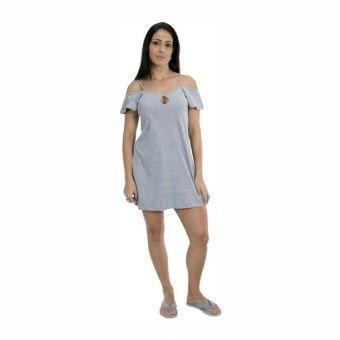 88a351b74 Camisola em Malha de Algodão Manga Ciganinha Decote Gota - Azul